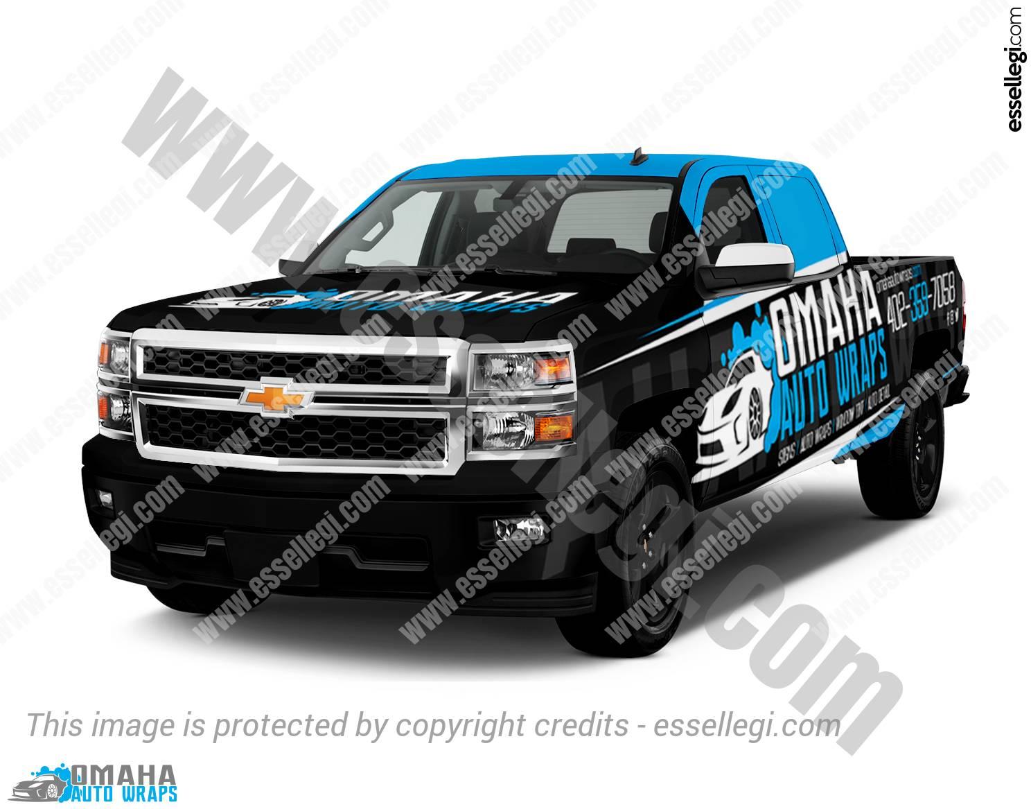 Nissan Of Omaha >> Chevy Silverado 1500 | Truck Wrap Design by Essellegi Wrap ...