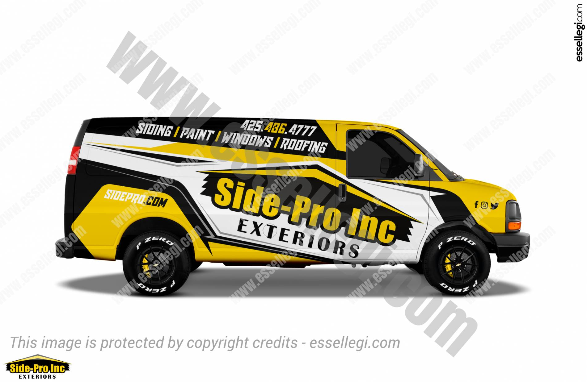 Chevy Express Wrap Design. Chevy Express | Van Wrap Design by Essellegi. Van Signs, Van Signage, Van Wrapping, Van Signwriting, Van Wrap Designer, Signs for Van, Van Logo, Van Graphic by Essellegi.