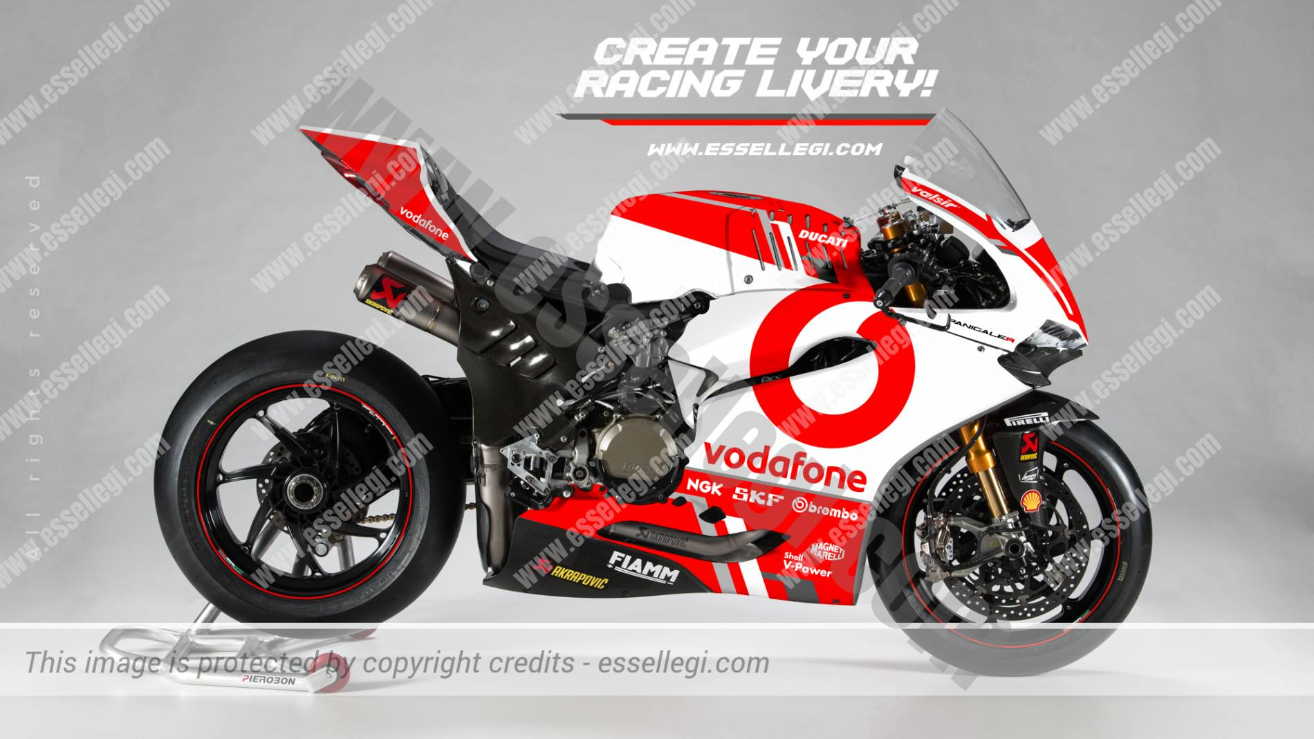 Ducati 1299 Panigale R Vodafone Tribute Racing Bike Livery