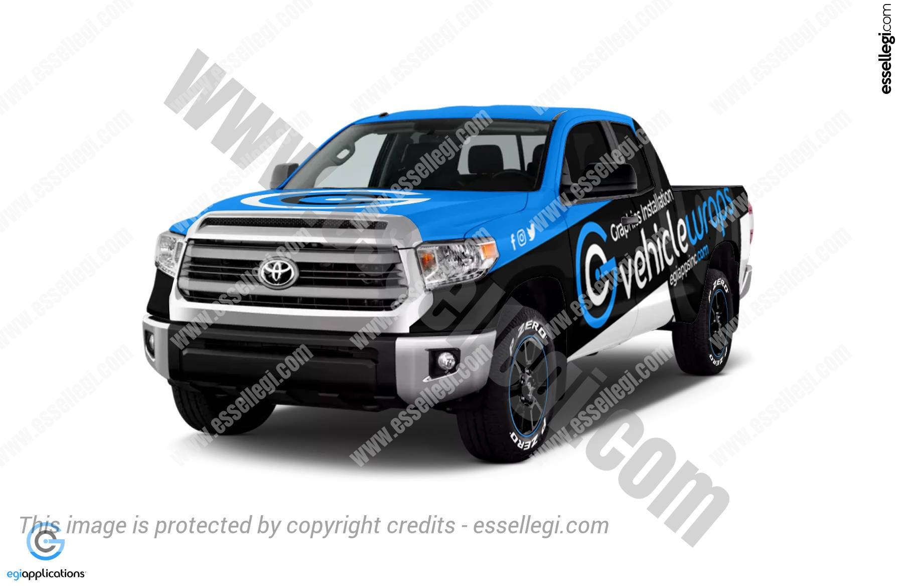 Best Toyota Tundra Wrap Design for Graphics Installation ...
