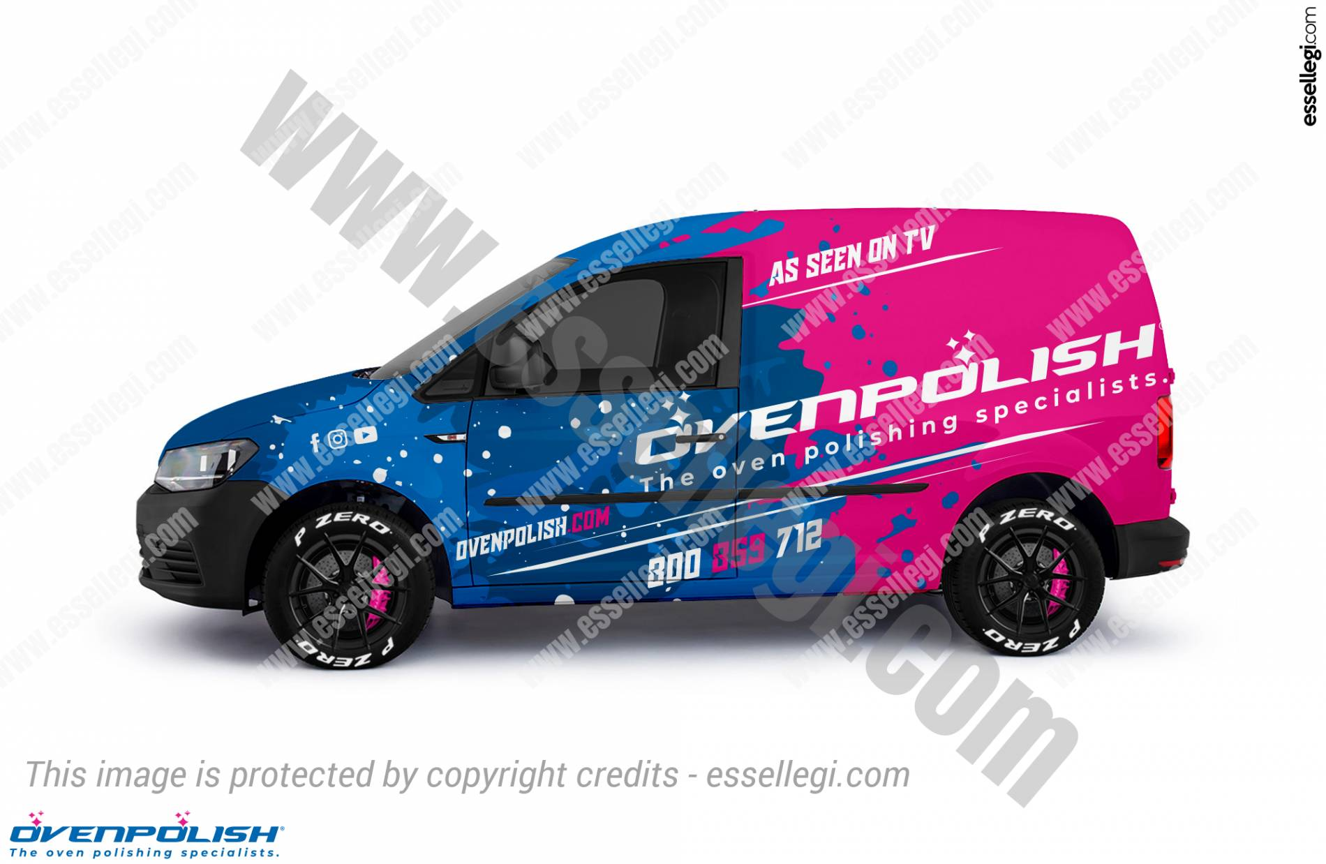 VW Caddy Wrap Design. VW Caddy | Van Wrap Design by Essellegi. Van Signs, Van Signage, Van Wrapping, Van Signwriting, Van Wrap Designer, Signs for Van, Van Logo, Van Graphic by Essellegi.