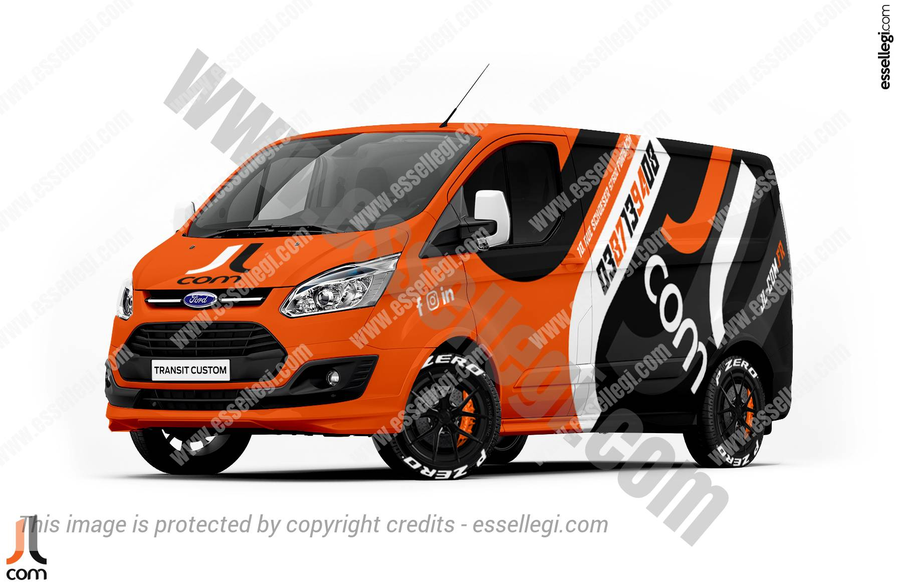 Ford Transit Custom Wrap Design. Ford Transit Custom | Van Wrap Design by Essellegi. Van Signs, Van Signage, Van Wrapping, Van Signwriting, Van Wrap Designer, Signs for Van, Van Logo, Van Graphic by Essellegi.
