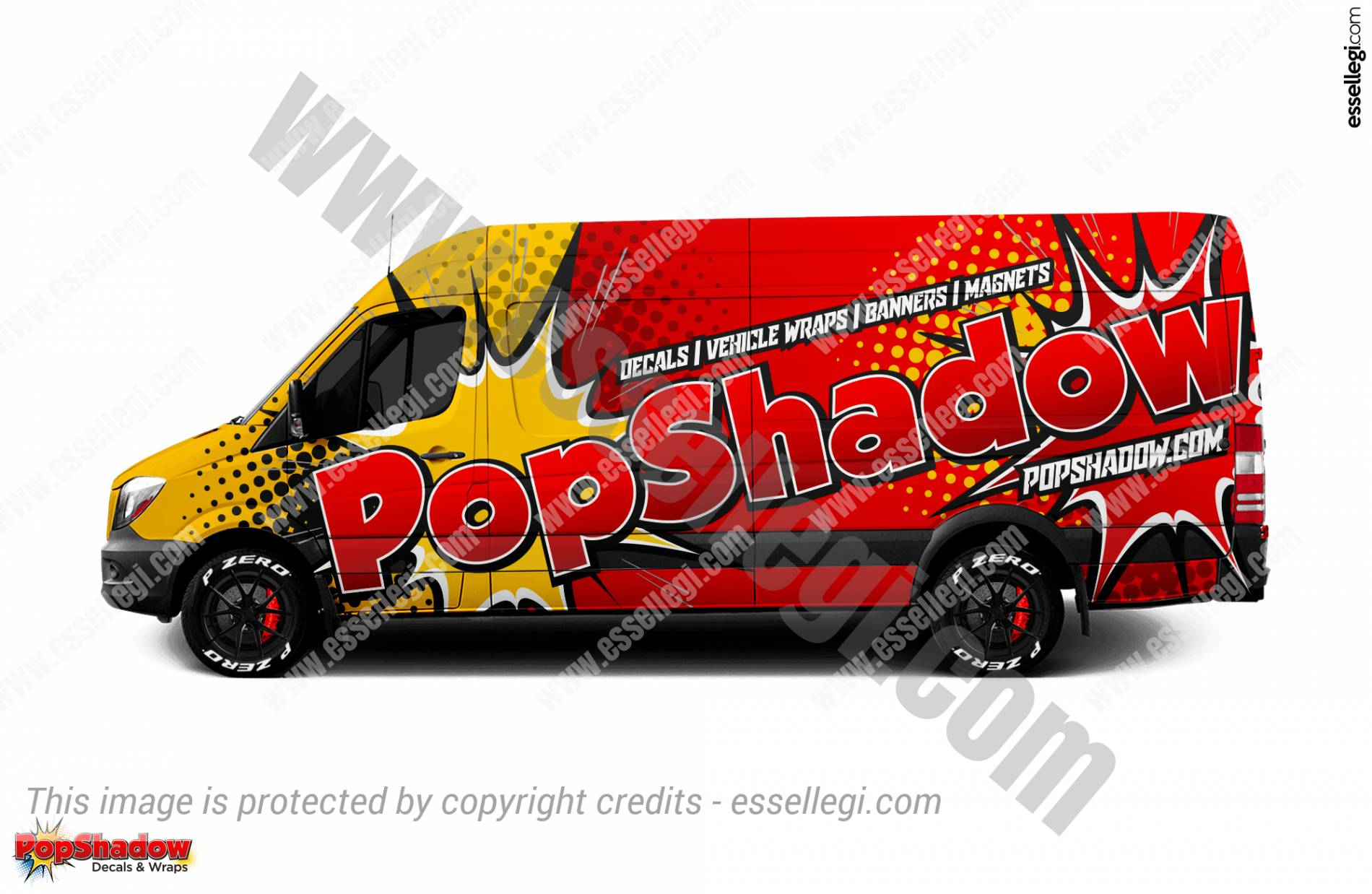 POP SHADOW | VAN WRAP DESIGN 🇺🇸