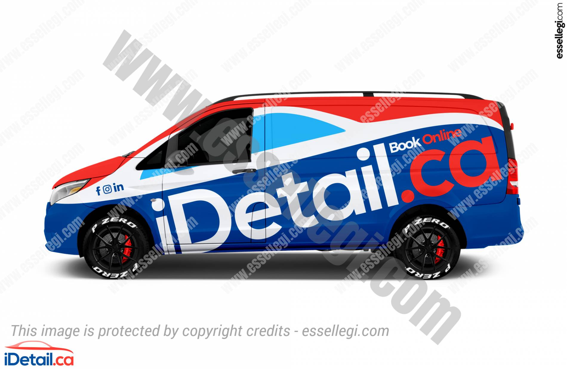 Best Mercedes Metris Wrap Design for Mobile Car Detailing Company