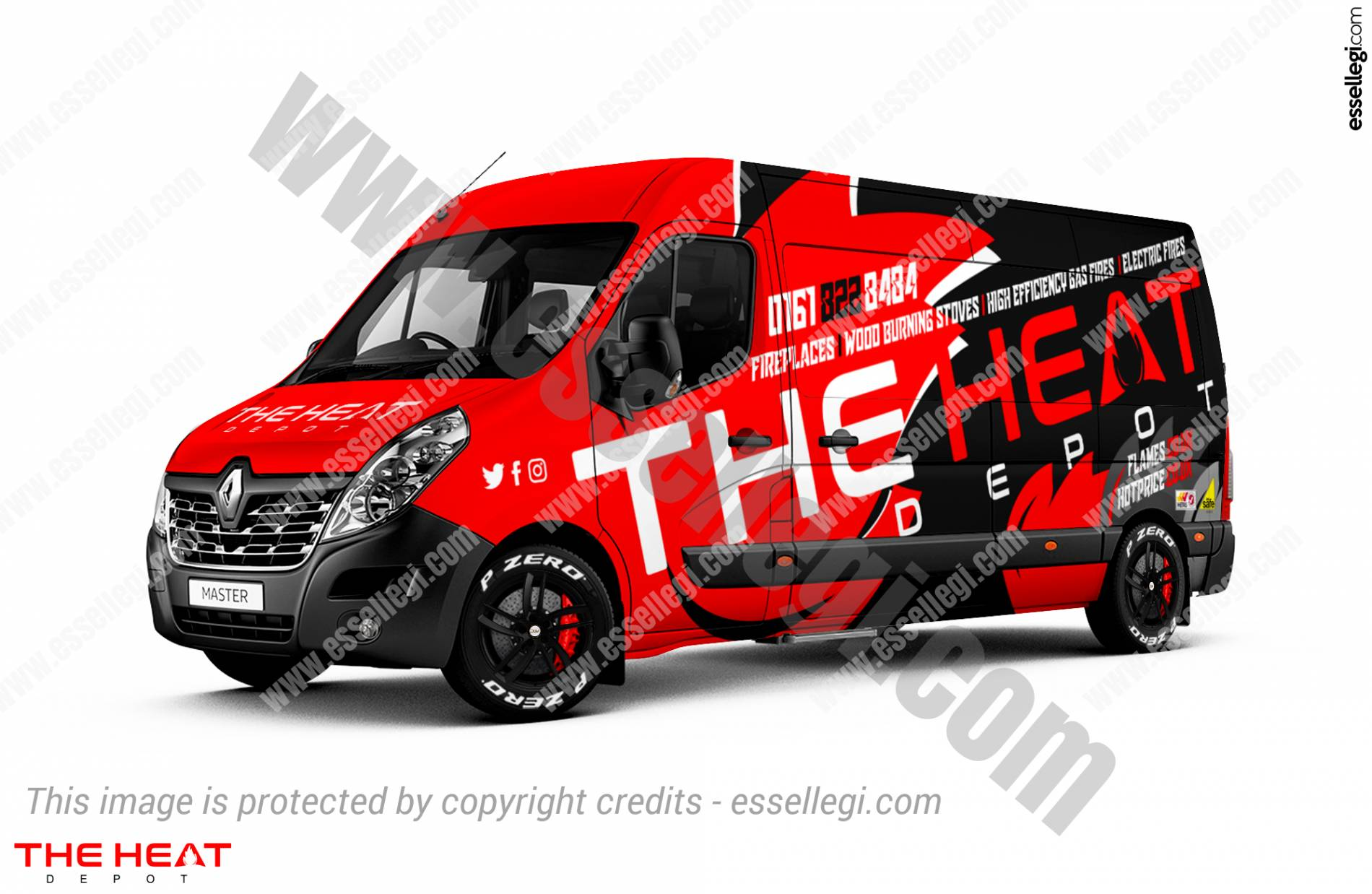 Renault Master Wrap Design. Renault Master | Van Wrap Design by Essellegi. Van Signs, Van Signage, Van Wrapping, Van Signwriting, Van Wrap Designer, Signs for Van, Van Logo, Van Graphic by Essellegi.