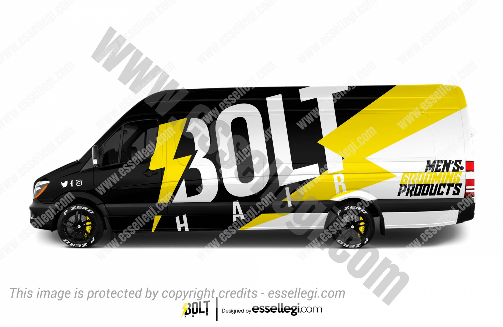 BOLT HAIR | VAN WRAP DESIGN 🇨🇦