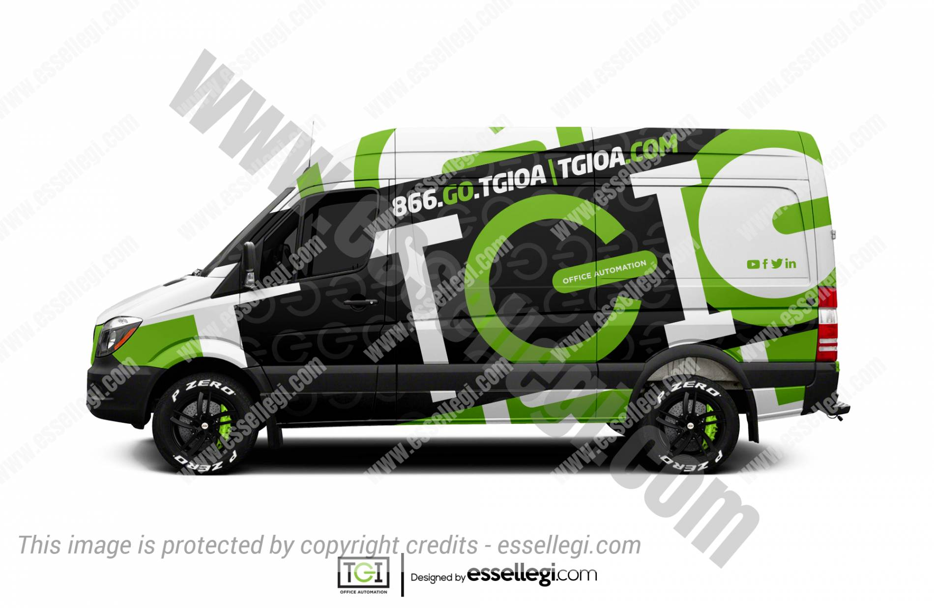 TGI OFFICE AUTOMATION | VAN WRAP DESIGN 🇺🇸
