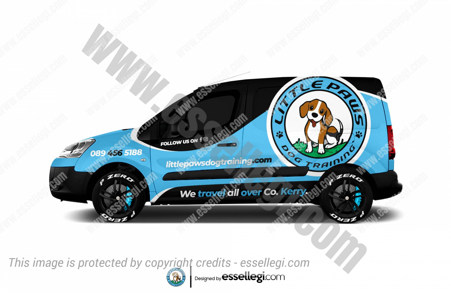 LITTLE PAWS | VAN WRAP DESIGN 🇨🇮