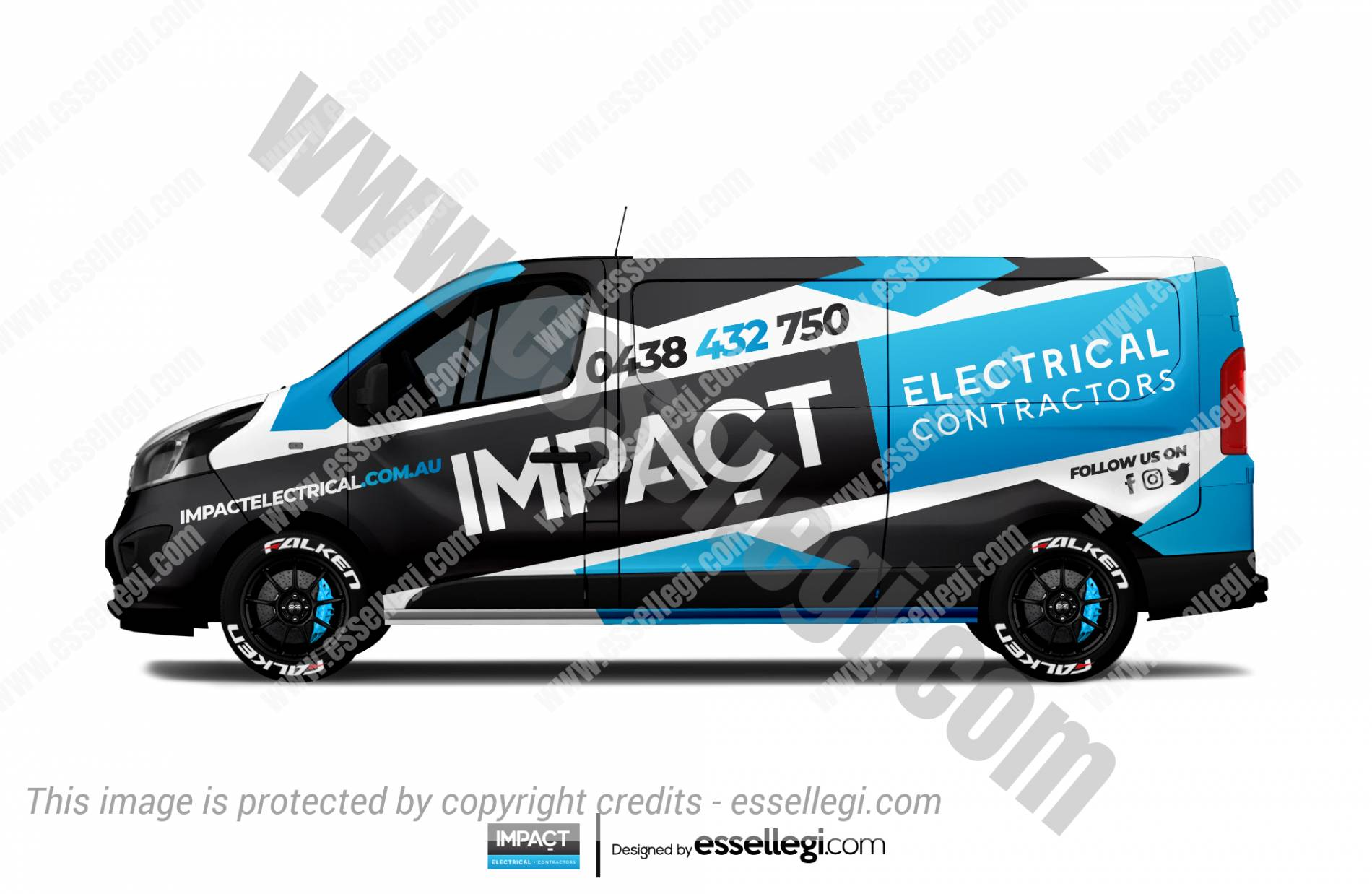 IMPACT ELECTRICAL | VAN WRAP DESIGN 🇦🇺