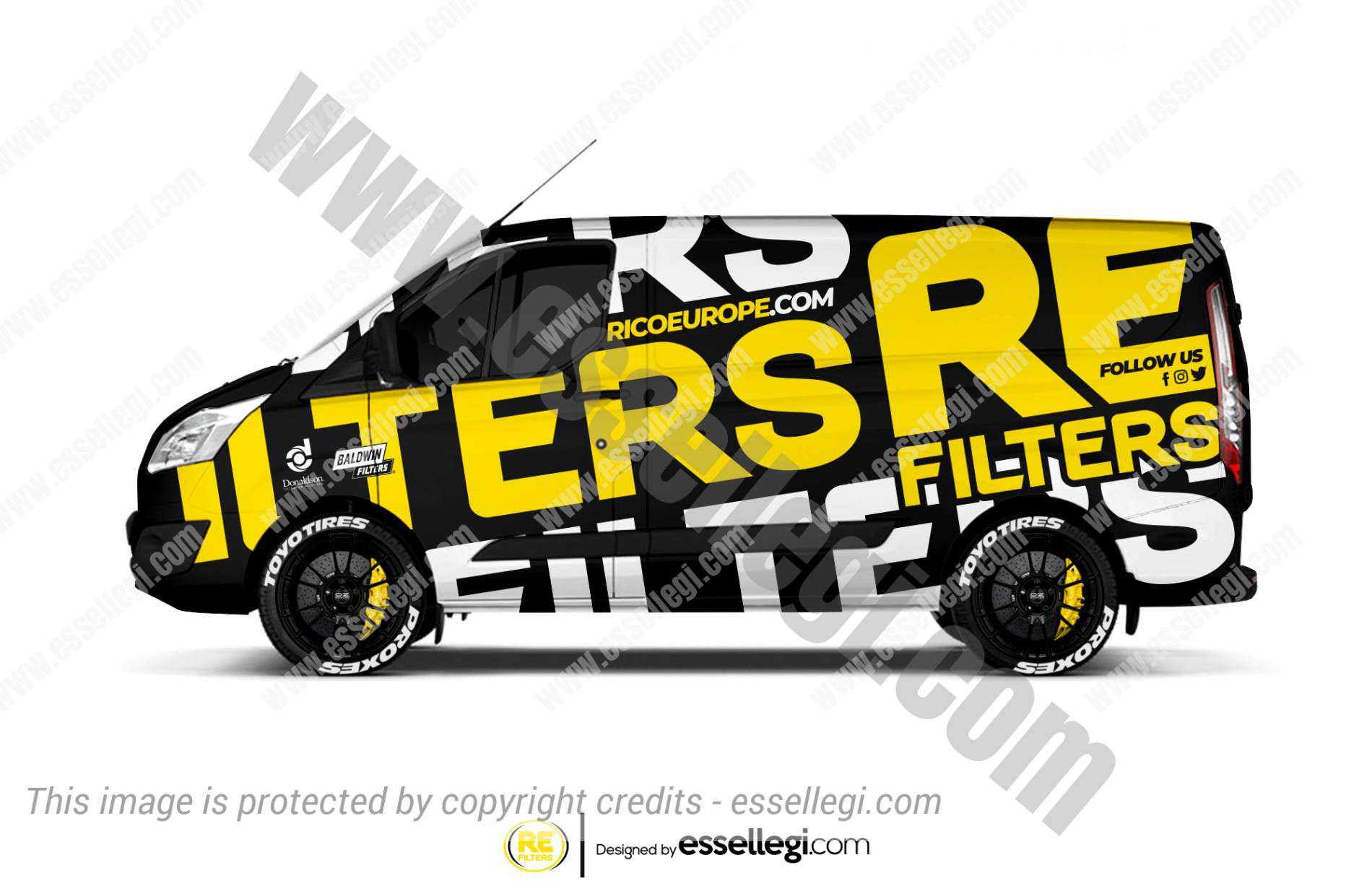 RICO EUROPE FILTERS | VAN WRAP DESIGN 🇬🇧