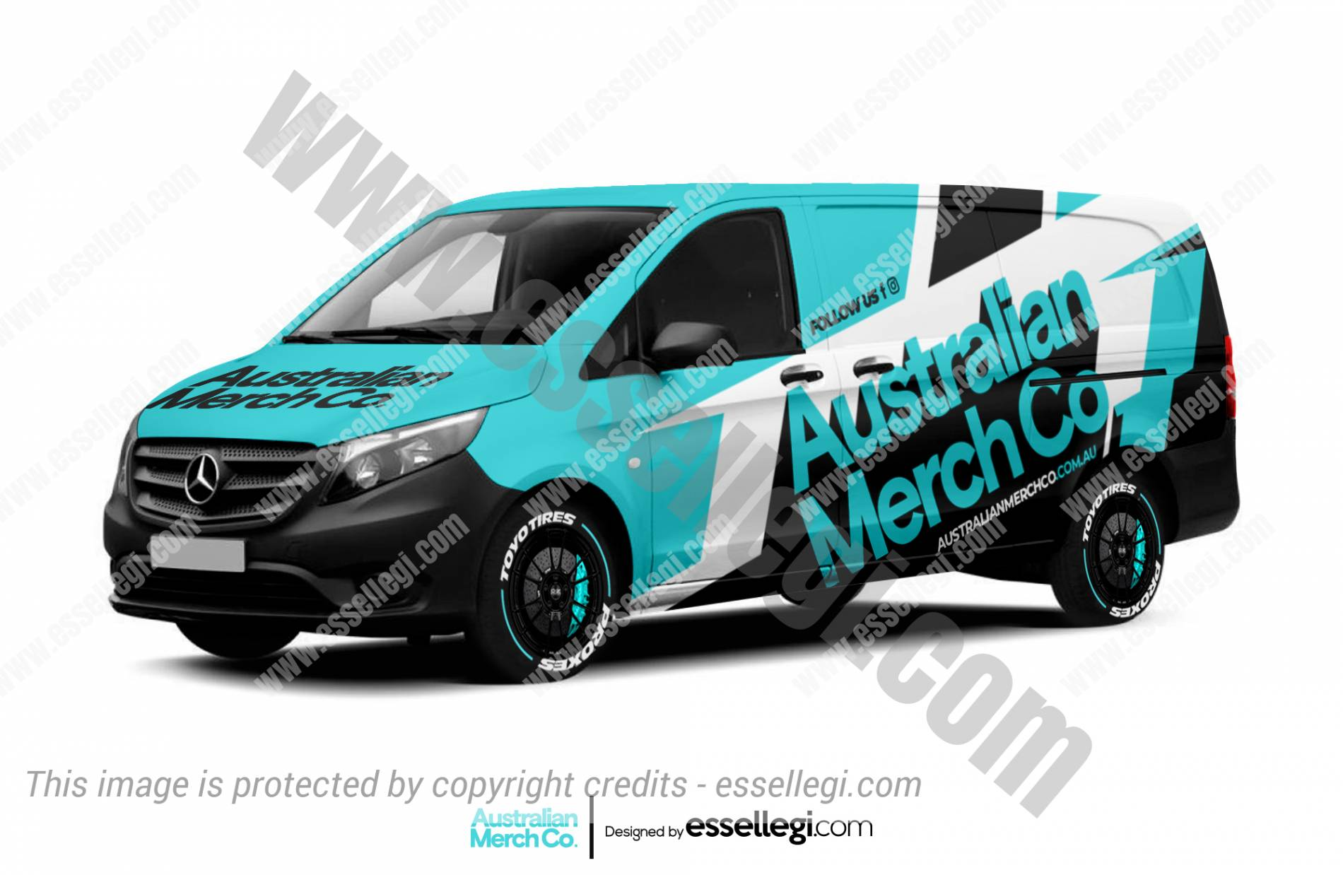 Mercedes Vito Wrap Design. Mercedes Vito | Van Wrap Design by Essellegi. Van Signs, Van Signage, Van Wrapping, Van Signwriting, Van Wrap Designer, Signs for Van, Van Logo, Van Graphic by Essellegi.