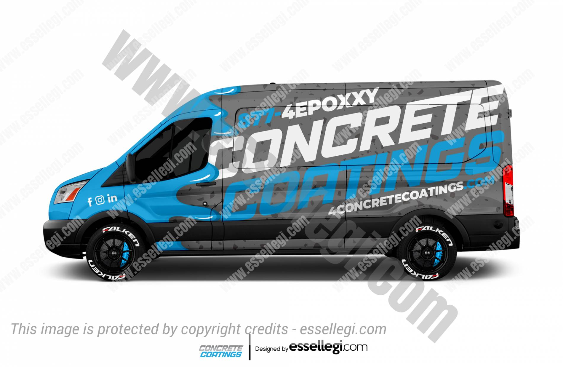 CONCRETE COATINGS | VAN WRAP DESIGN 🇺🇸