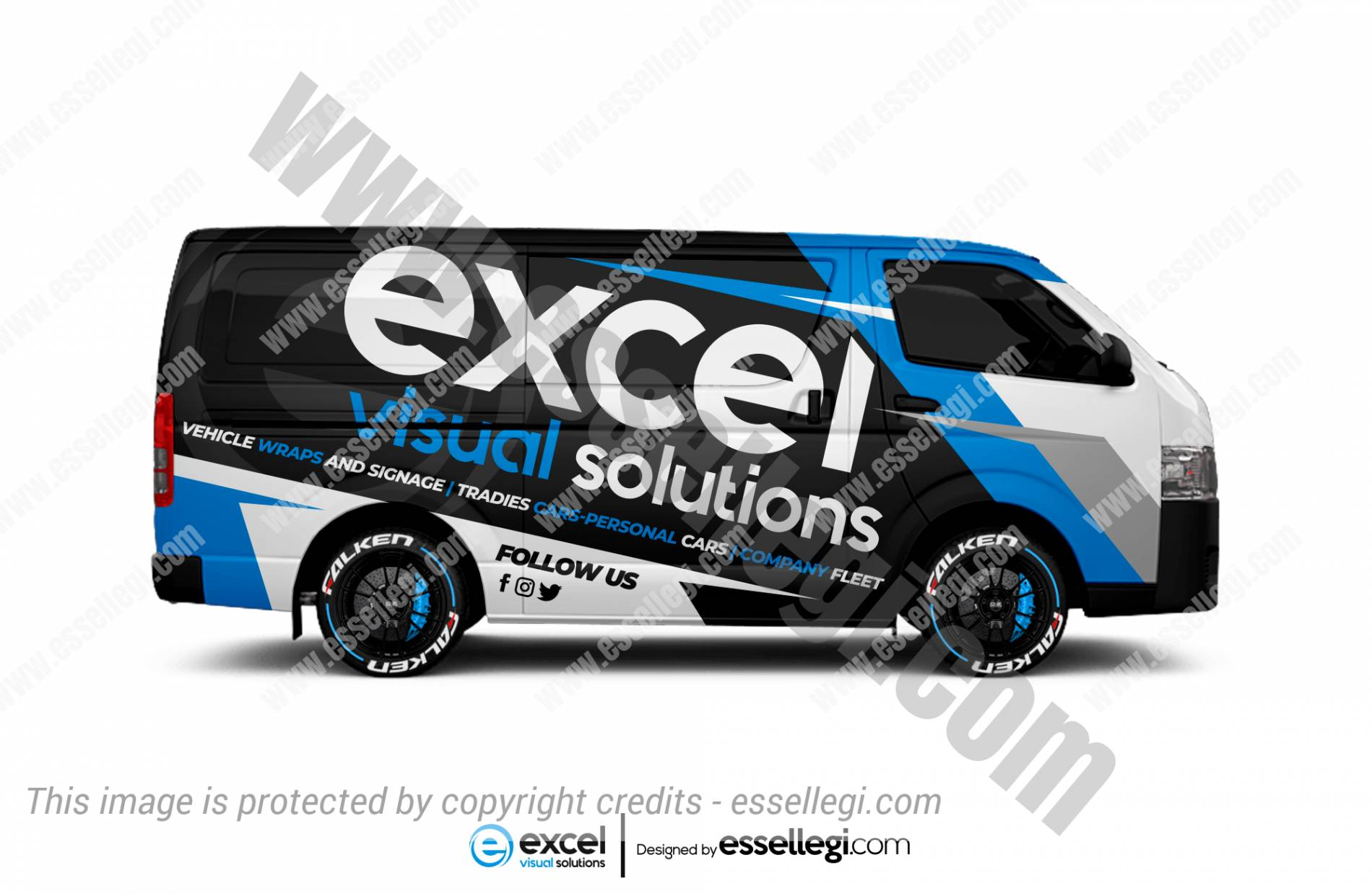 Toyota Hiace Wrap Design. Toyota Hiace | Van Wrap Design by Essellegi. Van Signs, Van Signage, Van Wrapping, Van Signwriting, Van Wrap Designer, Signs for Van, Van Logo, Van Graphic by Essellegi.