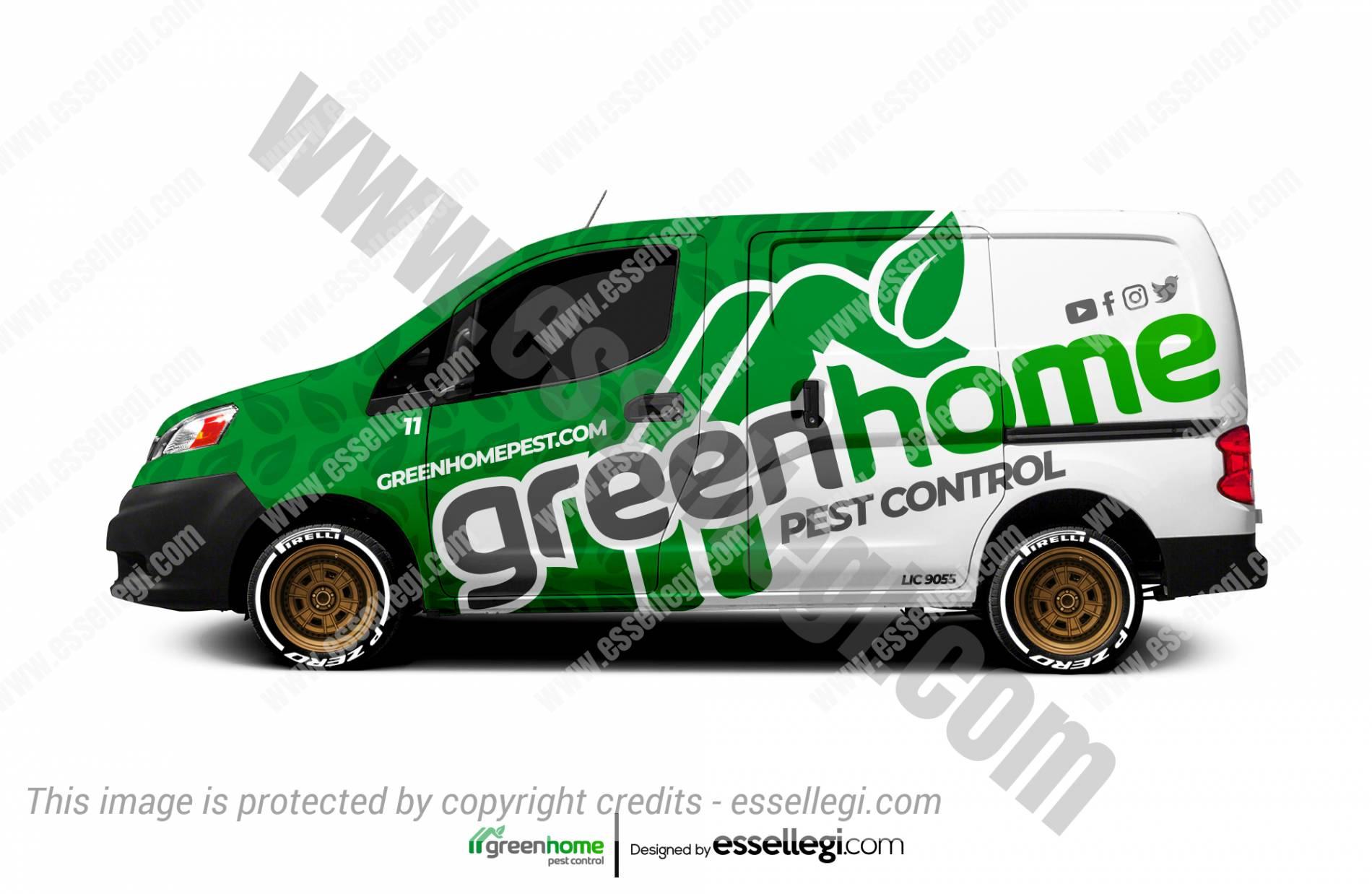 GREEN HOME PEST CONTROL | VAN WRAP DESIGN 🇺🇸