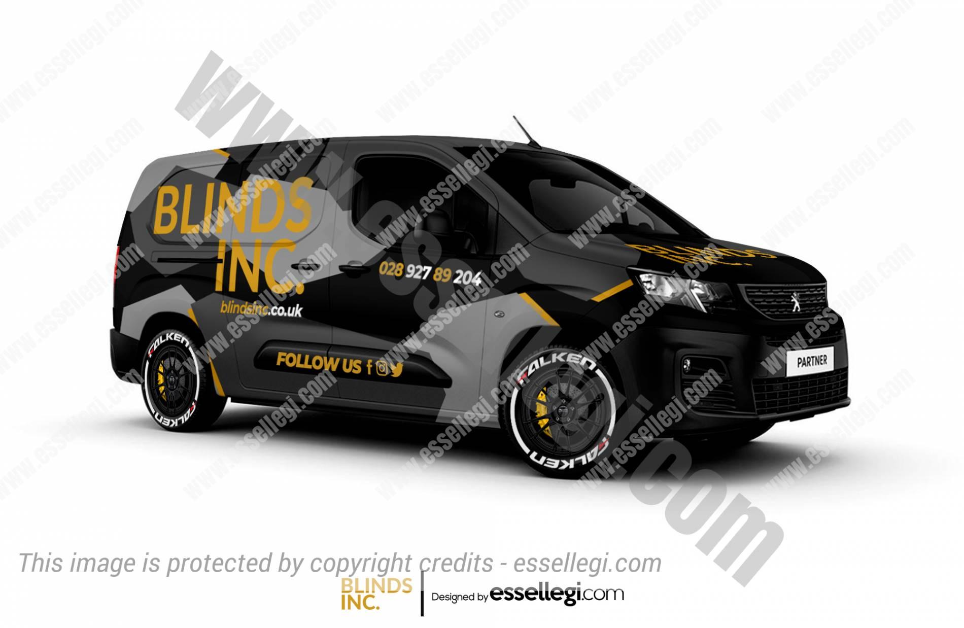 Peugeot Partner Wrap Design. Peugeot Partner | Van Wrap Design by Essellegi. Van Signs, Van Signage, Van Wrapping, Van Signwriting, Van Wrap Designer, Signs for Van, Van Logo, Van Graphic by Essellegi.