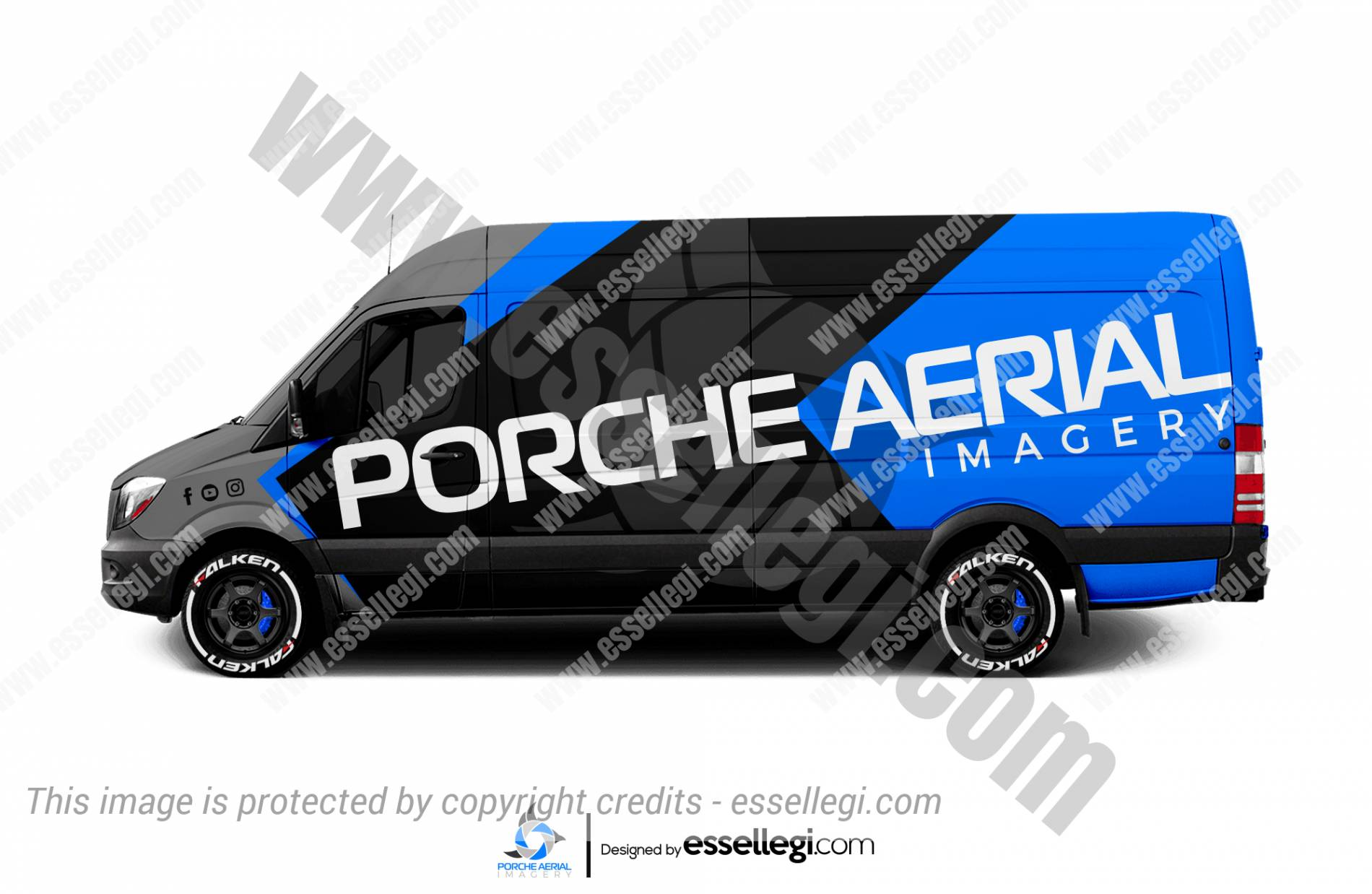 PORCHE AERIAL IMAGERY | VAN WRAP DESIGN 🇺🇸
