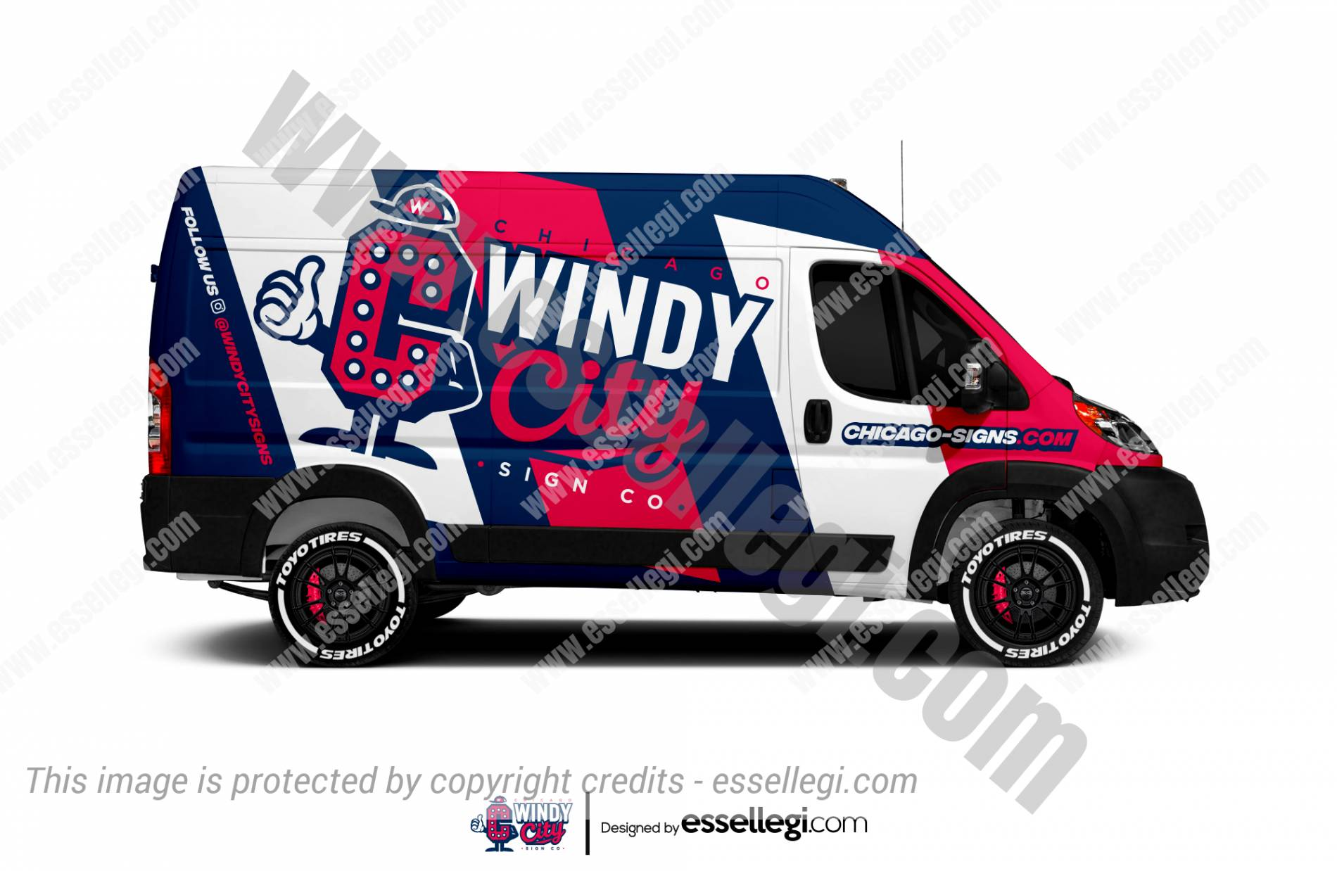 Dodge RAM ProMaster Wrap Design. Dodge RAM ProMaster | Van Wrap Design by Essellegi. Van Signs, Van Signage, Van Wrapping, Van Signwriting, Van Wrap Designer, Signs for Van, Van Logo, Van Graphic by Essellegi.