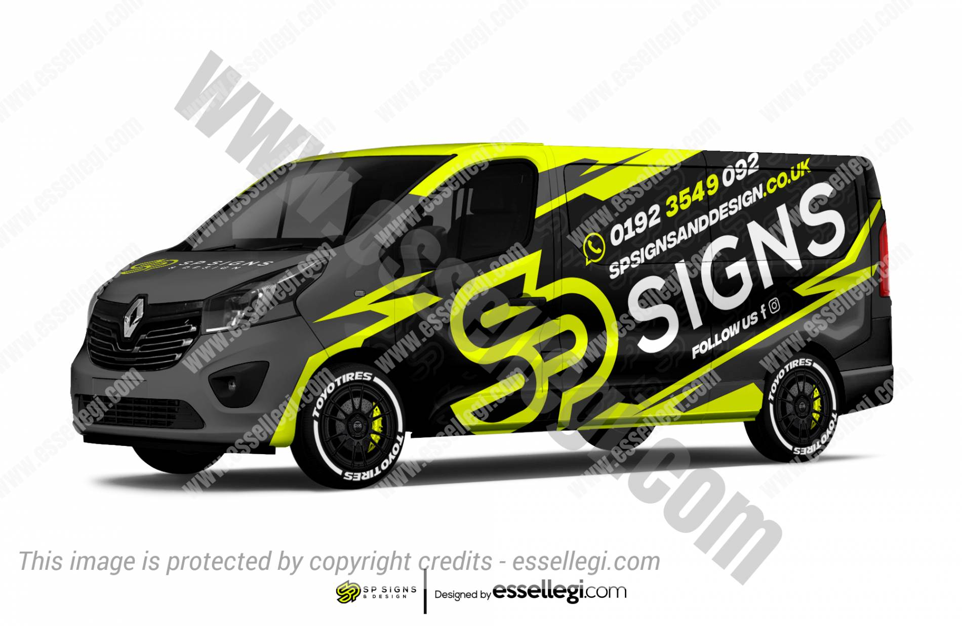Renault Trafic Wrap Design. Renault Trafic Wrap | Van Wrap Design by Essellegi. Van Signs, Van Signage, Van Wrapping, Van Signwriting, Van Wrap Designer, Signs for Van, Van Logo, Van Graphic by Essellegi.