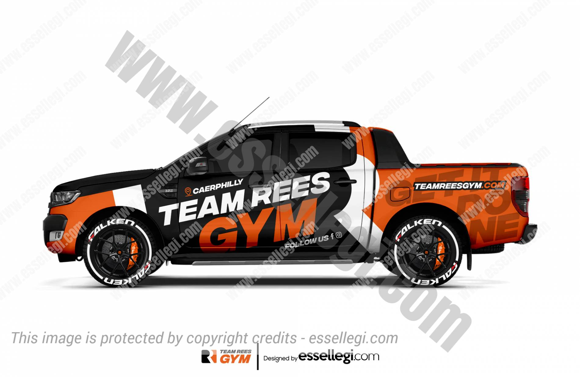 TEAM REES GYM | TRUCK WRAP DESIGN 🇬🇧