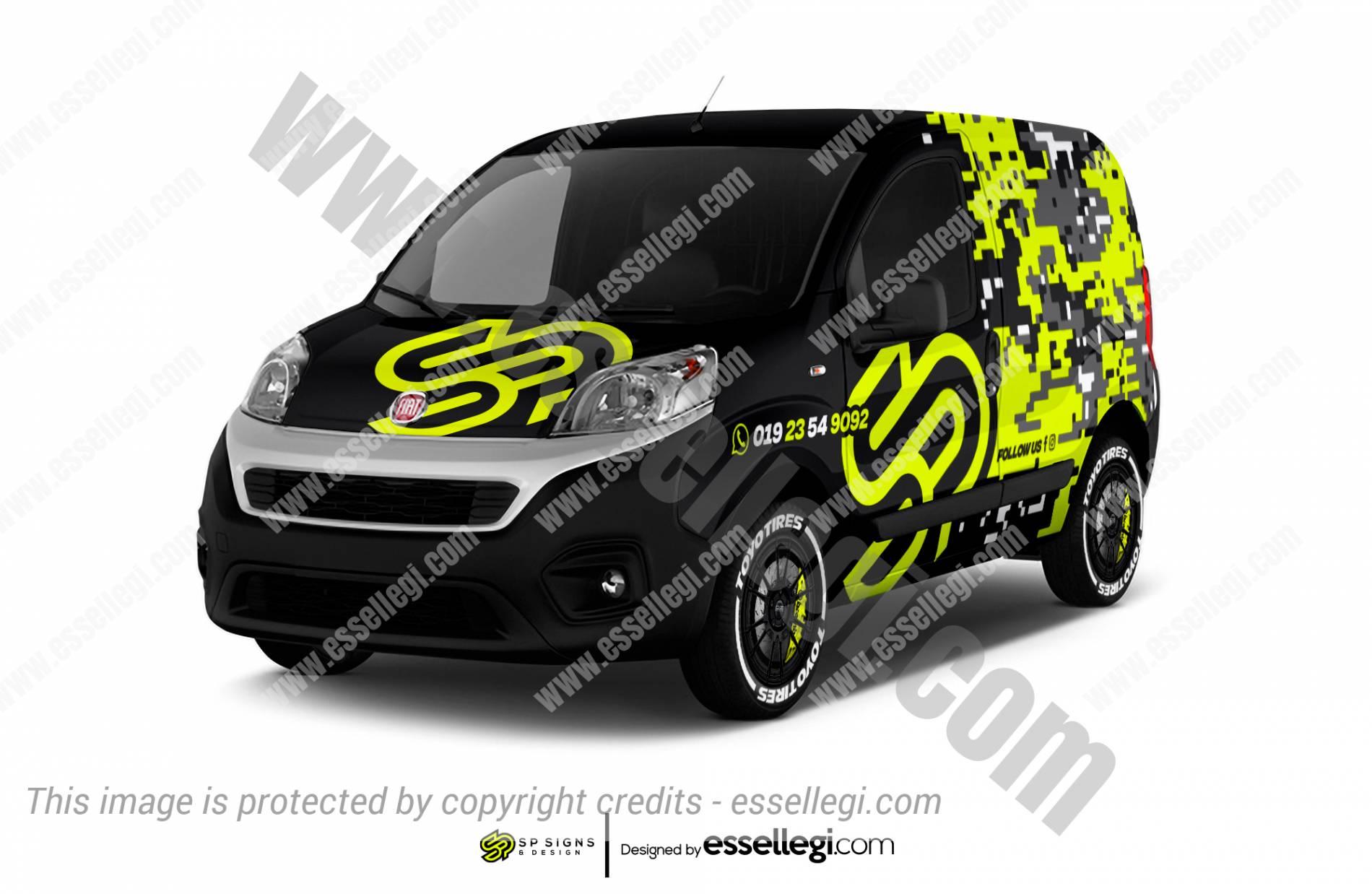 Fiat Fiorino Wrap Design. Fiat Fiorino Wrap | Van Wrap Design by Essellegi. Van Signs, Van Signage, Van Wrapping, Van Signwriting, Van Wrap Designer, Signs for Van, Van Logo, Van Graphic by Essellegi.
