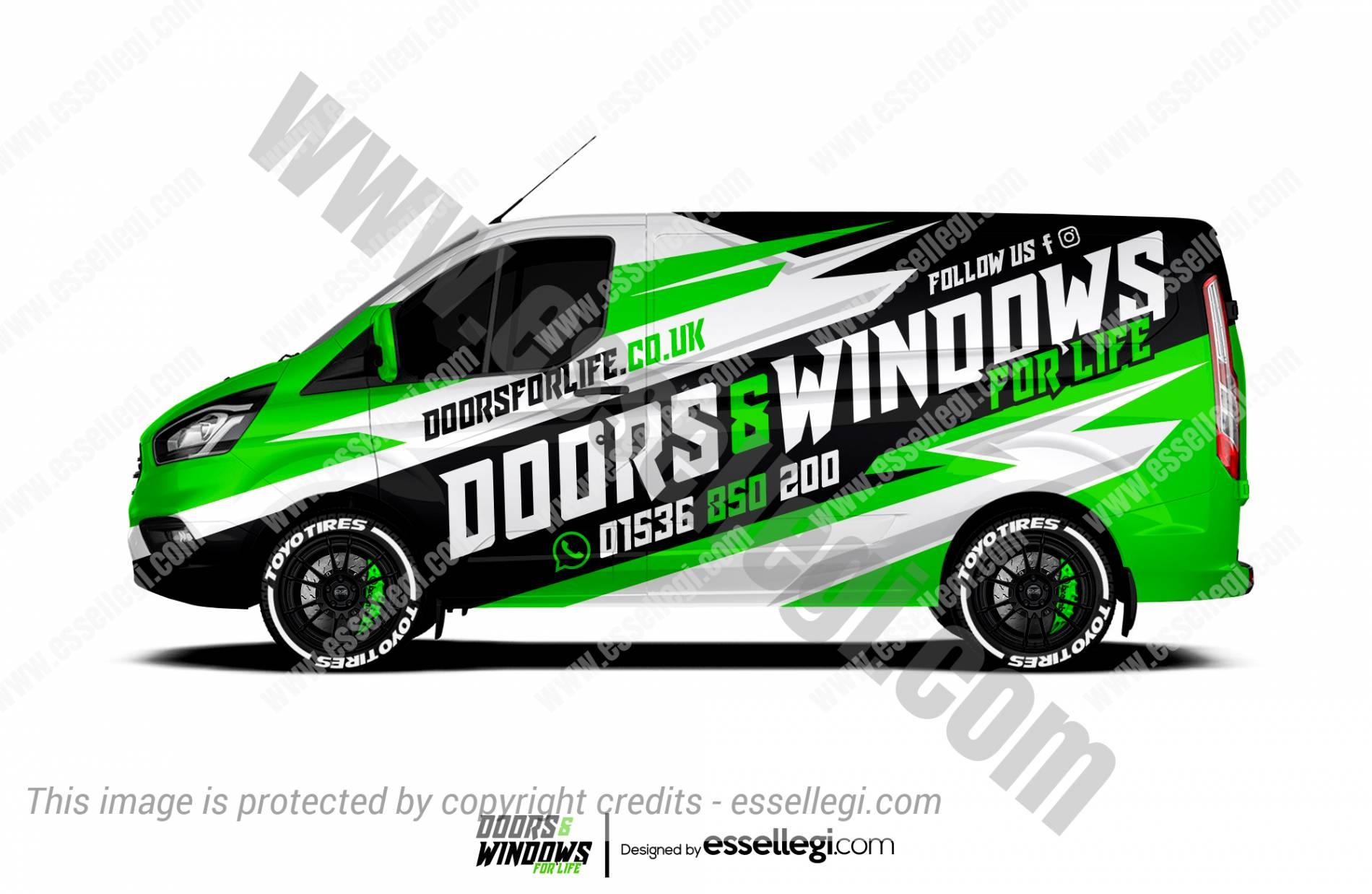 DOORS & WINDOWS FOR LIFE | VAN WRAP DESIGN 🇬🇧