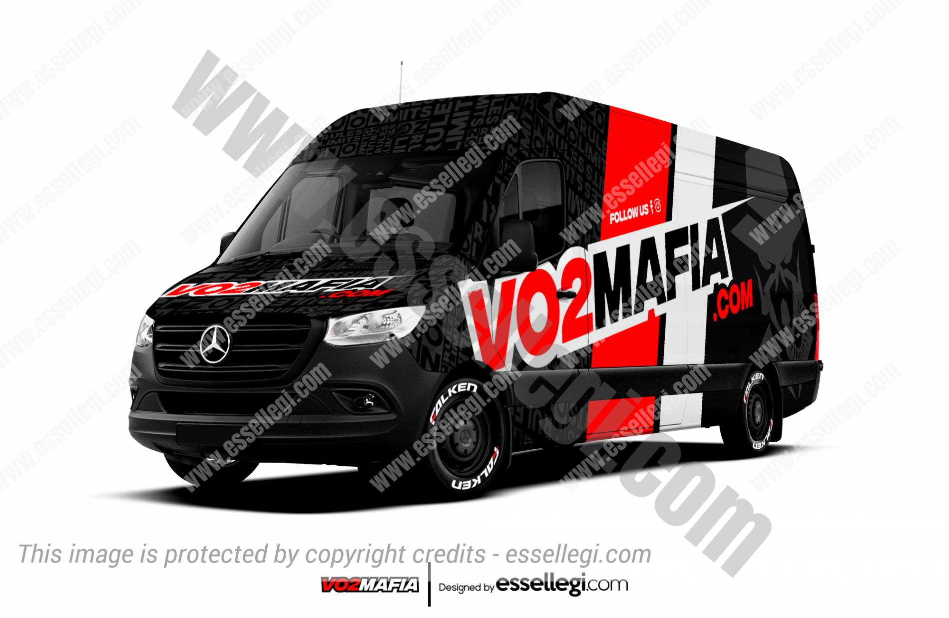 Mercedes Sprinter Wrap Design. Mercedes Sprinter Custom Wrap | Van Wrap Design by Essellegi. Van Signs, Van Signage, Van Wrapping, Van Signwriting, Van Wrap Designer, Signs for Van, Van Logo, Van Graphic by Essellegi.