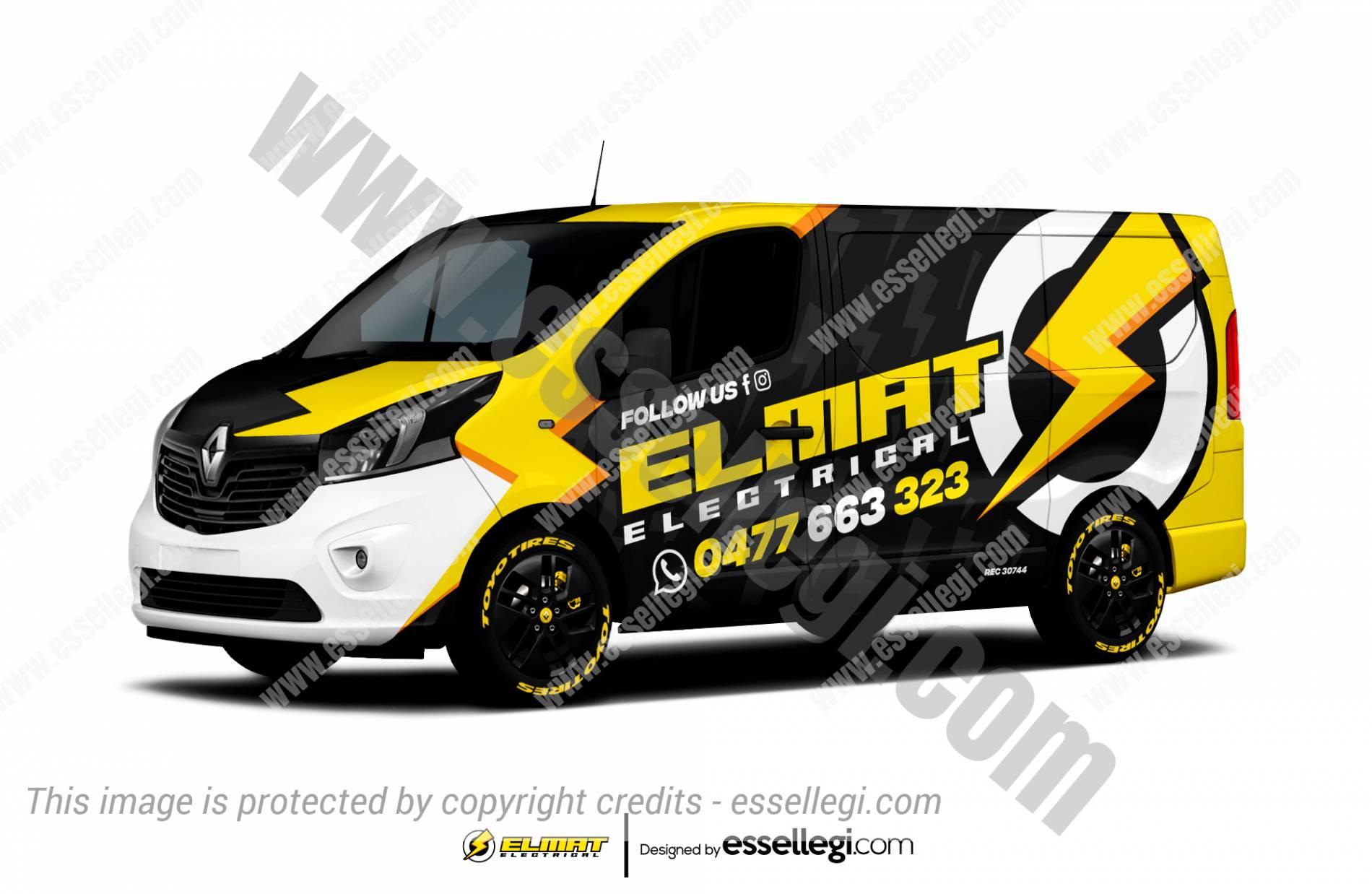 Renault Trafic Wrap Design. Renault Trafic Wrap   Van Wrap Design by Essellegi. Van Signs, Van Signage, Van Wrapping, Van Signwriting, Van Wrap Designer, Signs for Van, Van Logo, Van Graphic by Essellegi.