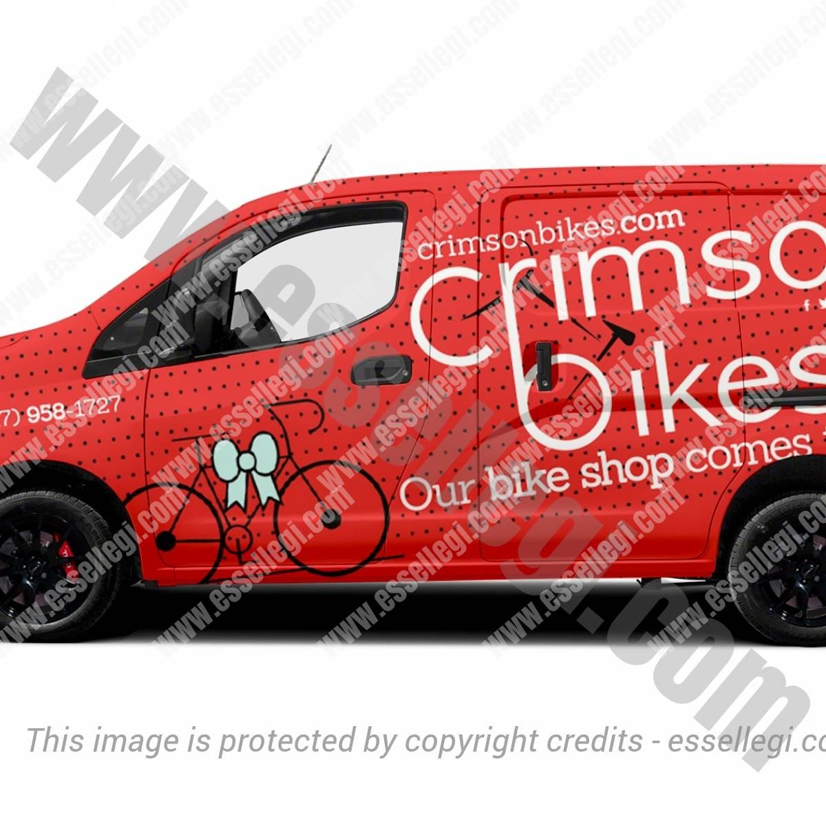 CRIMSON BIKES | VAN WRAP DESIGN 🇺🇸