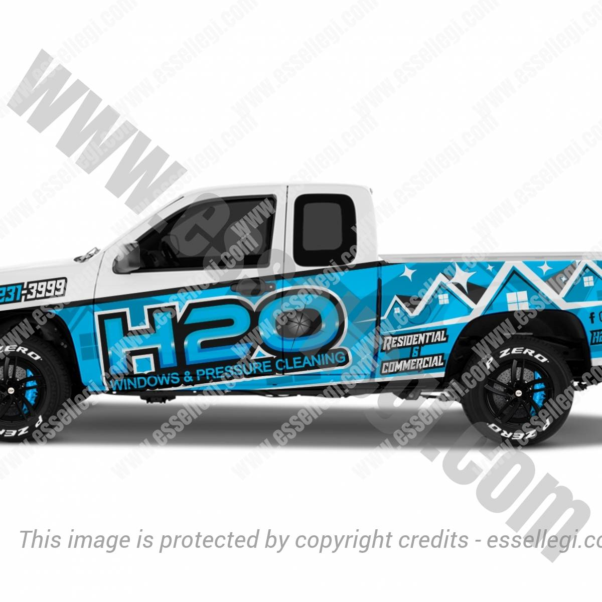 H2o WASHING | TRUCK WRAP DESIGN 🇺🇸
