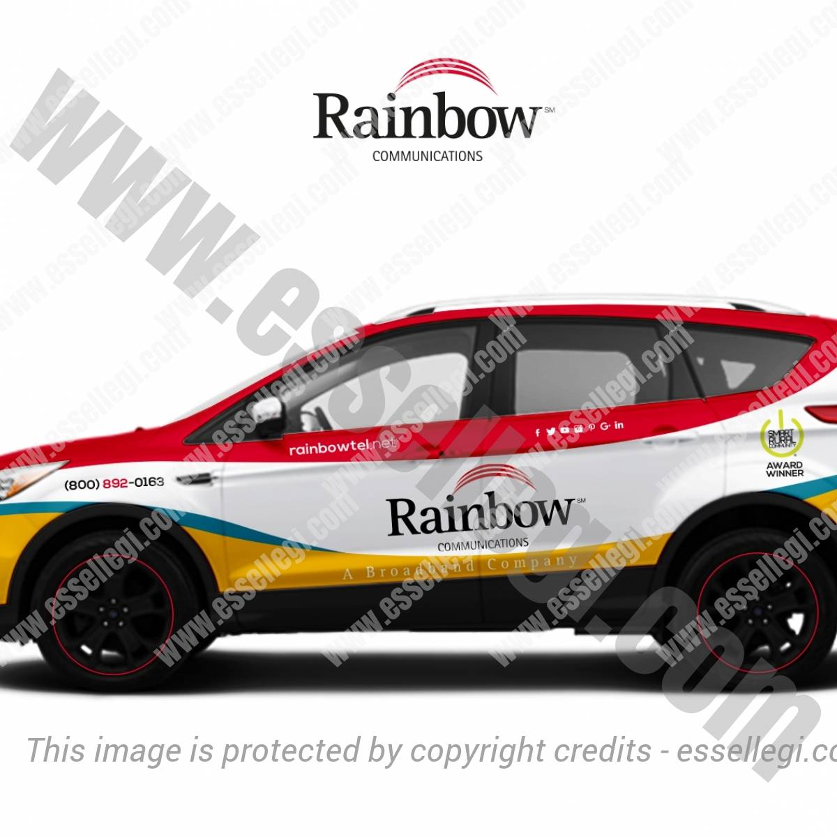 RAINBOW COMMUNICATIONS | CAR WRAP DESIGN 🇺🇸