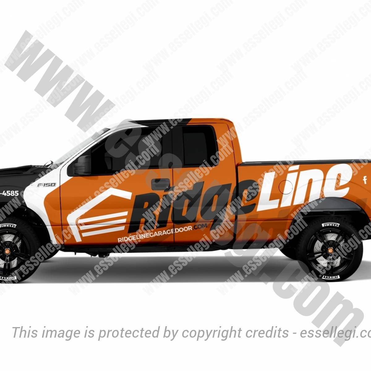 RIDGELINE GARAGE DOOR | TRUCK WRAP DESIGN 🇺🇸
