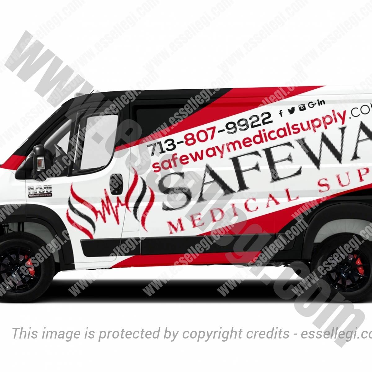 SAFEWAY – MEDICAL SUPPLY | VAN WRAP DESIGN 🇺🇸