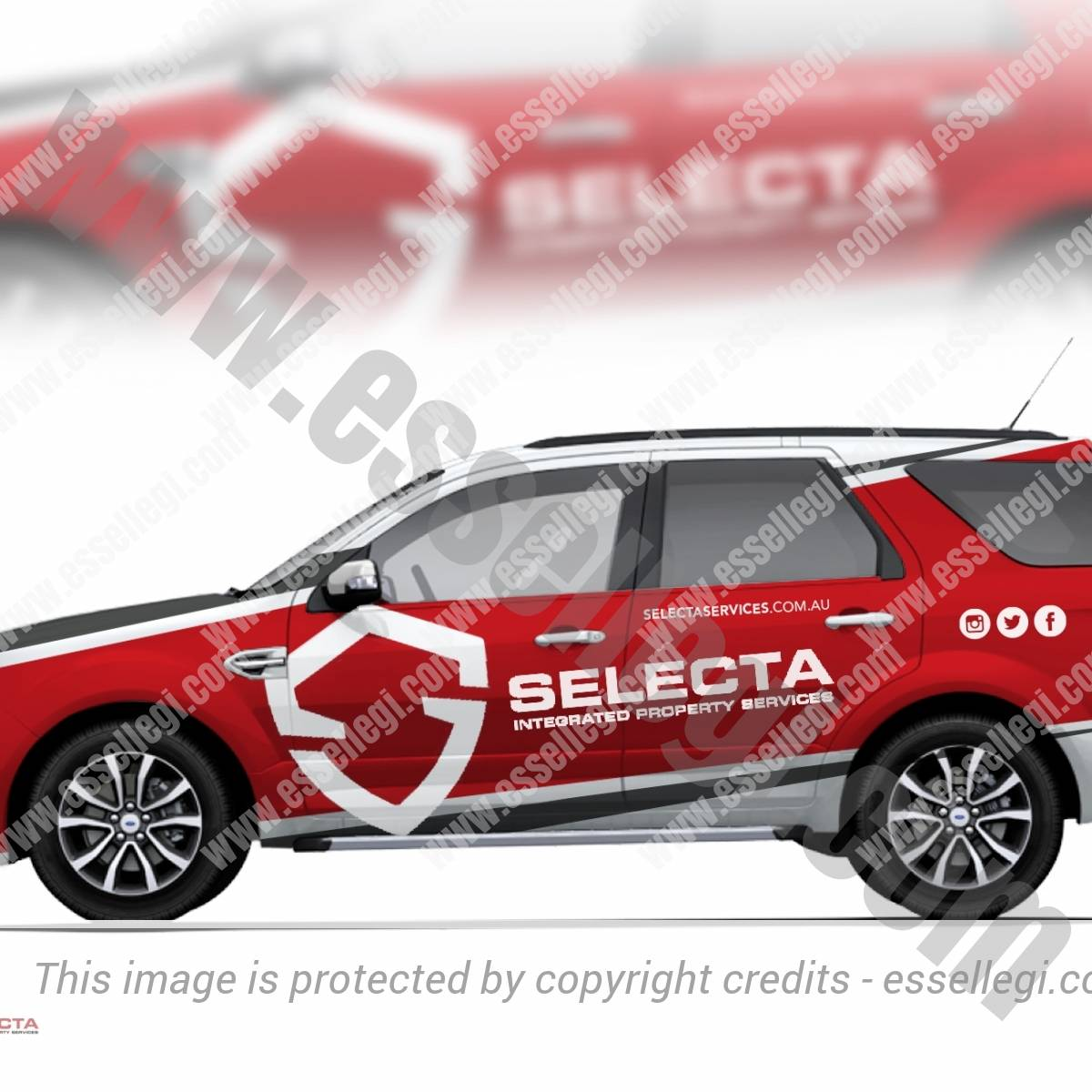 SELECTA – INTEGRATED PROPERTY SERVICES | CAR WRAP DESIGN 🇦🇺