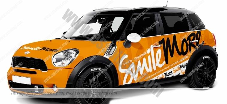 MINI COOPER COUNTRYMAN | CAR WRAP DESIGN