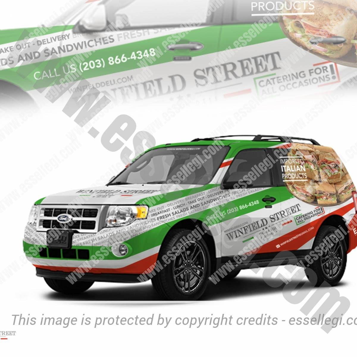 WINFIELD STREET – ITALIAN DELI | CAR WRAP DESIGN 🇺🇸