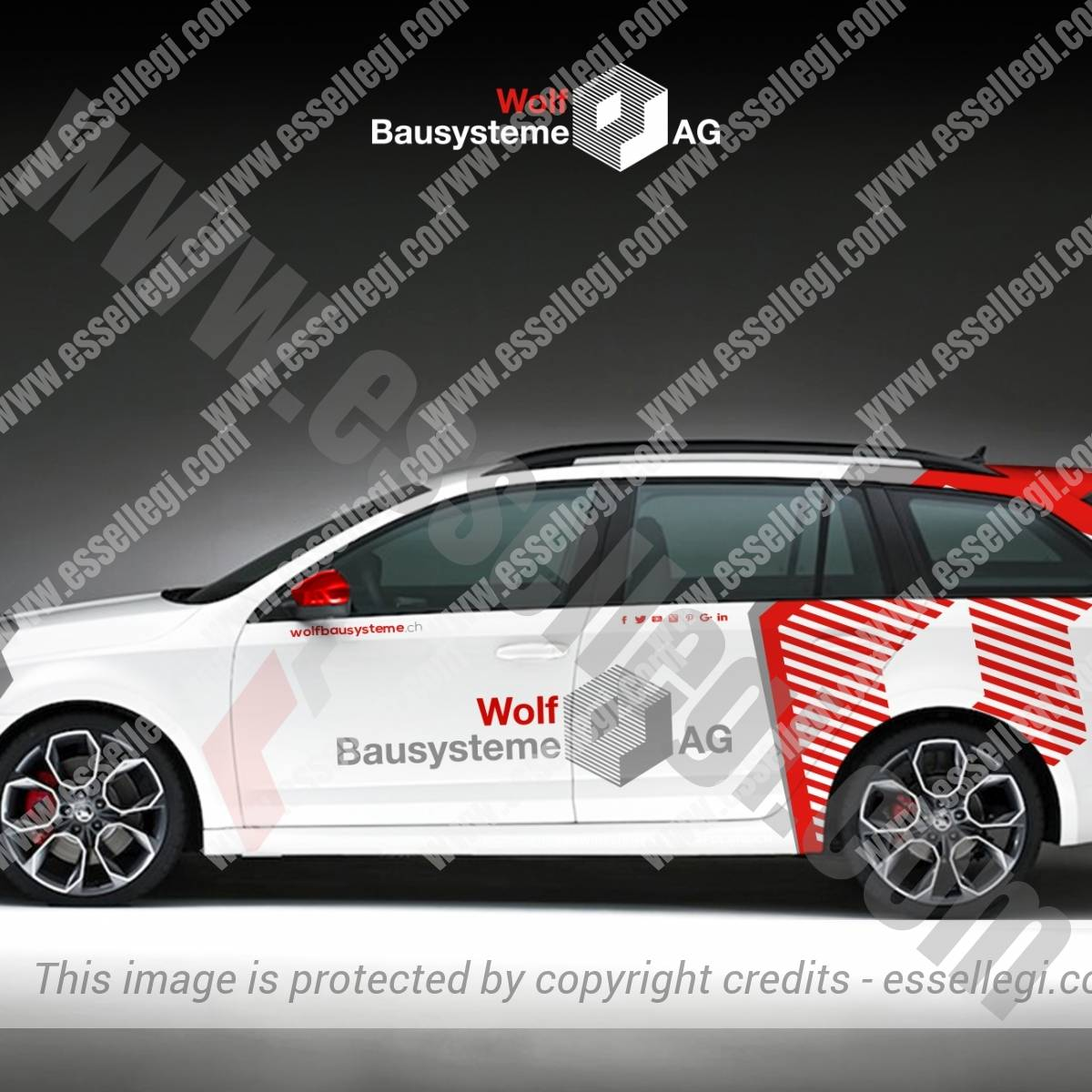 WOLF BAUSYSTEME AG | CAR WRAP DESIGN 🇨🇭