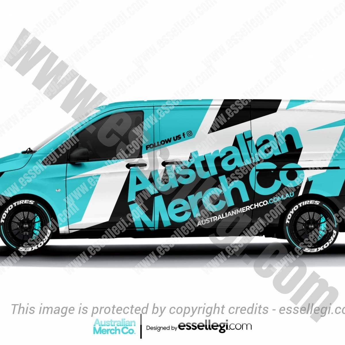 AUSTRALIAN MERCH CO. | VAN WRAP DESIGN 🇦🇺