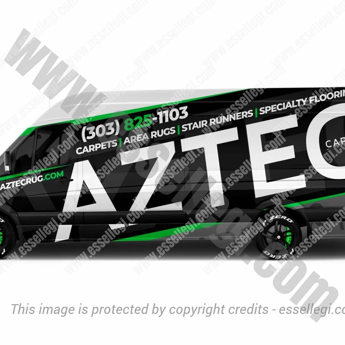 AZTEC CARPET & RUG | VAN WRAP DESIGN  🇺🇸