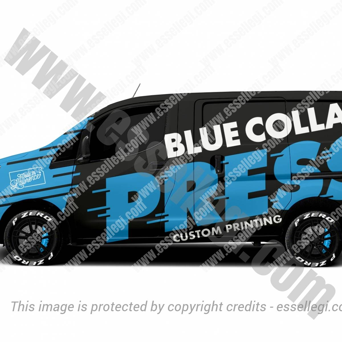 BLUE COLLAR PRESS | VAN WRAP DESIGN 🇺🇸