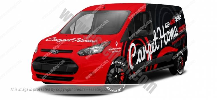 FORD TRANSIT CONNECT LWB | VAN WRAP DESIGN