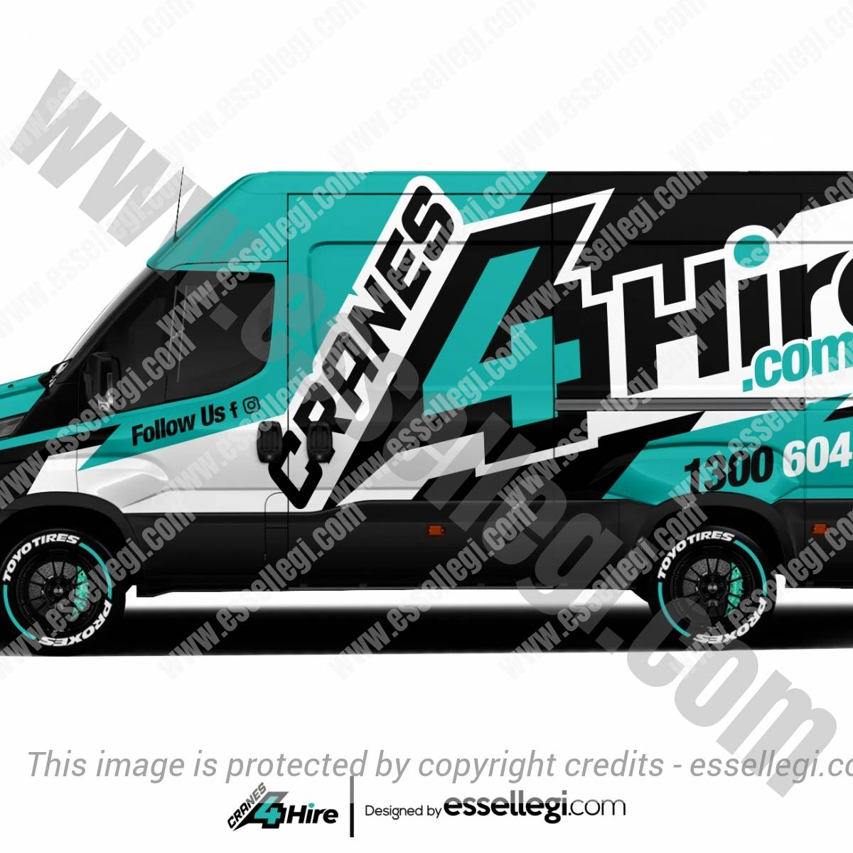 CRANES 4 HIRE | VAN WRAP DESIGN 🇦🇺