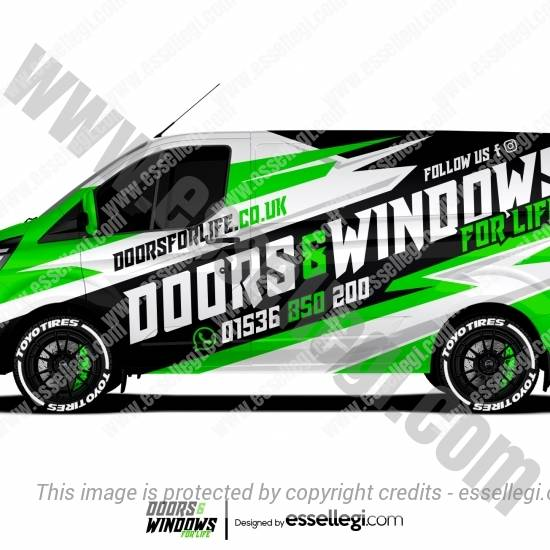 DOORS & WINDOWS FOR LIFE | VAN WRAP DESIGN 🇬🇧