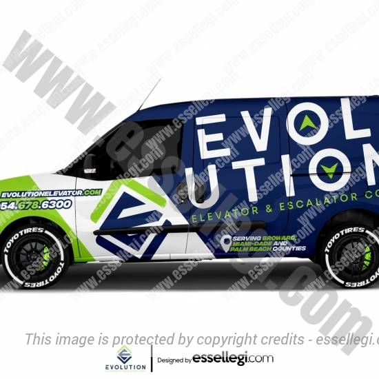 EVOLUTION ELEVATOR | VAN WRAP DESIGN 🇺🇸
