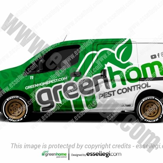 GREEN HOME PEST CONTROL | VAN WRAP DESIGN 🇺🇸