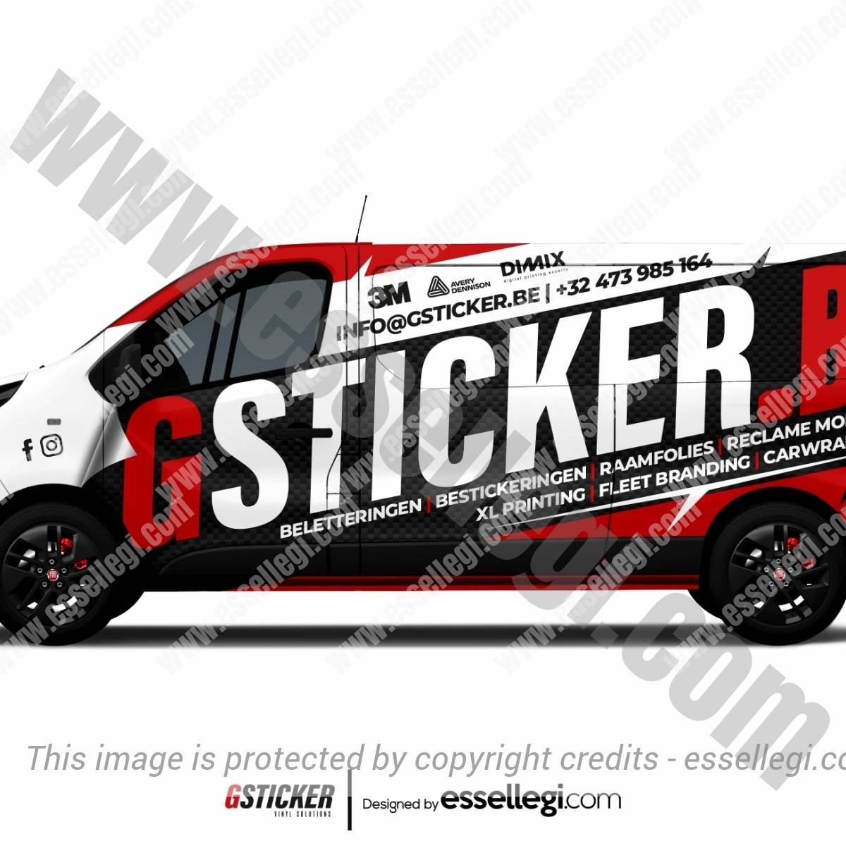 GSTICKER | VAN WRAP DESIGN 🇧🇪