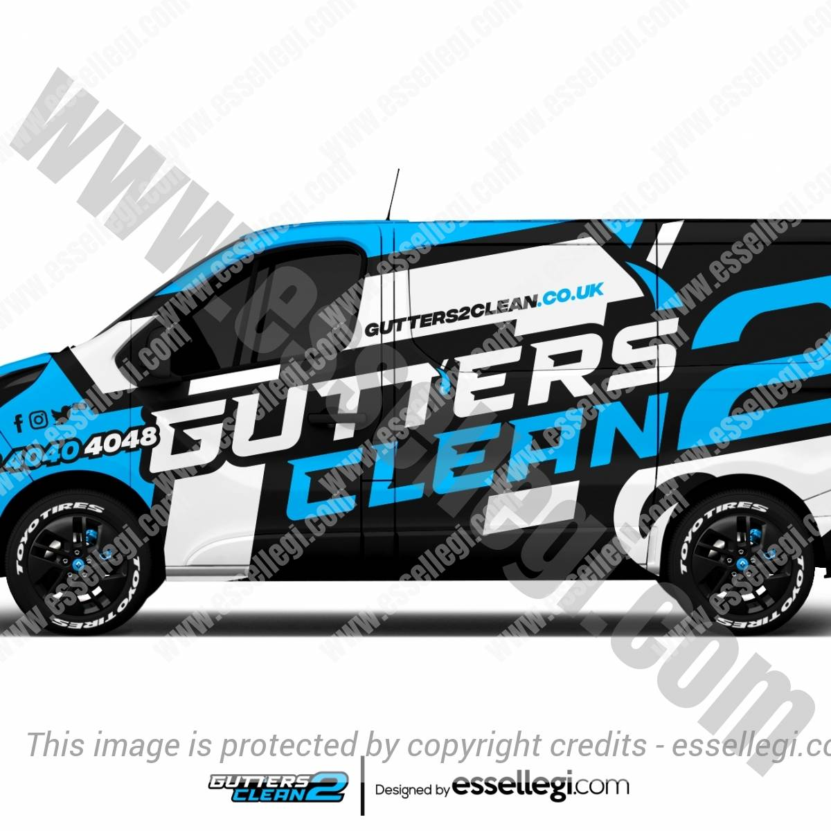 GUTTERS2CLEAN | VAN WRAP DESIGN 🇬🇧