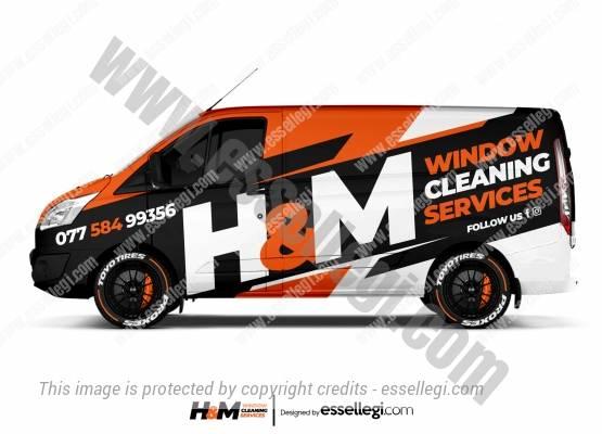 H&M WINDOW CLEANING | VAN WRAP DESIGN 🇬🇧