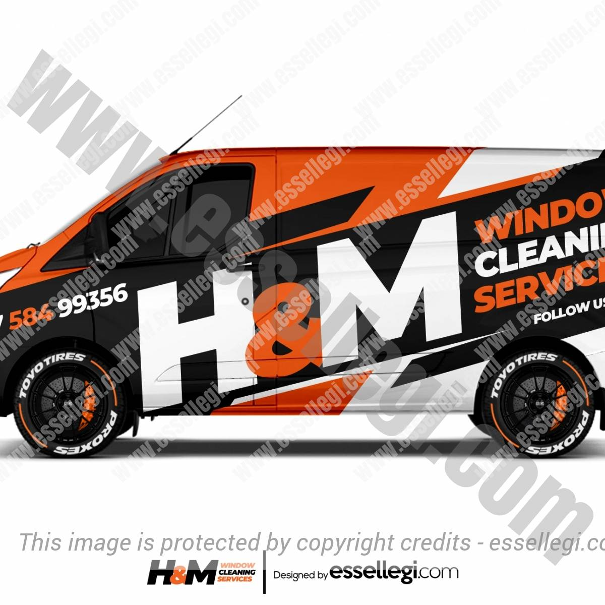 H&M WINDOW CLEANING | VAN WRAP DESIGN 🇬🇧