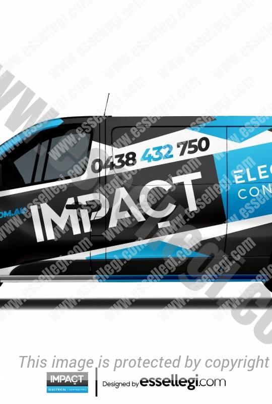 IMPACT ELECTRICAL | VAN WRAP DESIGN 🇦🇺