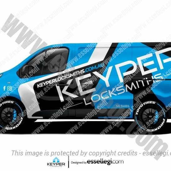 KEYPER LOCKSMITHS | VAN WRAP DESIGN 🇦🇺